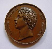 Bronzemedaille der Bayerischen Industrieausstellung 1834