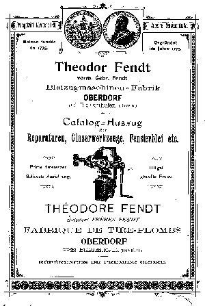 Prospekt von Theodor Fendt