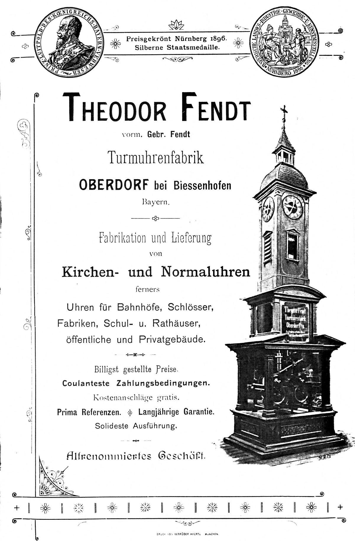 Theodor Fendt Werbebroschüre